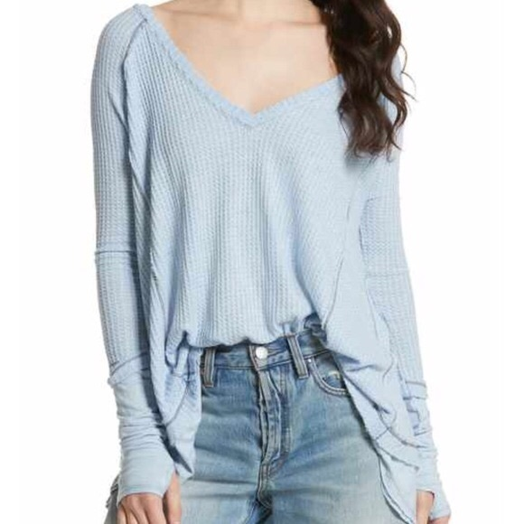 Free People Sweaters - Light Blue Free People Thermal